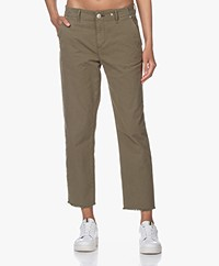 Rag & Bone Buckley Japanese Cotton Chinos - Olive Green