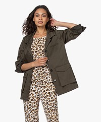 Woman by Earn Sally Utillity Jacket - Army