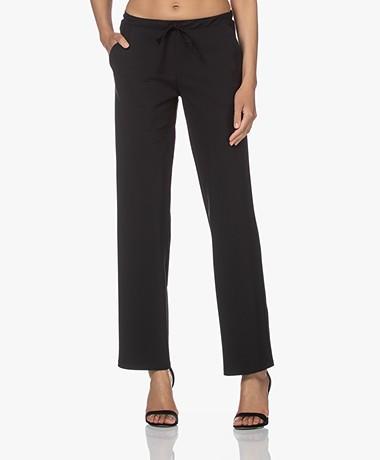 Woman by Earn Phyllis Tech Jersey Straight Leg Pants - Black