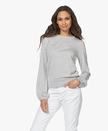 Plein Publique La Coeur Merino Wool Sweater - Silvergrey