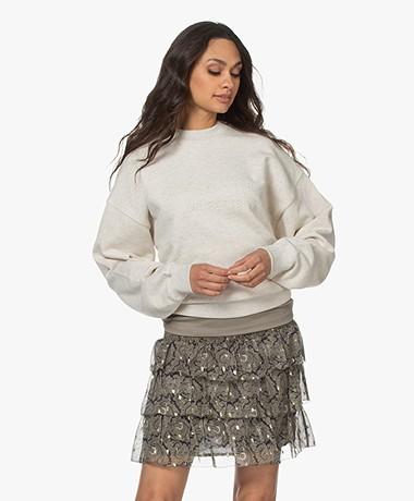 Les Coyotes de Paris Ross Logo Sweater - Cream Melange
