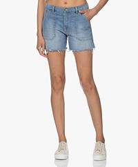 ba&sh Selby Stretch Denim Shorts - Light Used Blue