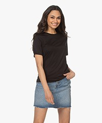 By Malene Birger Amatta Lyocell T-shirt - Black