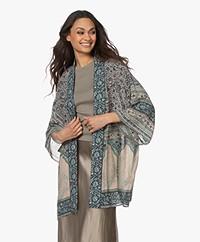 ba&sh Toam Printed Viscose Kimono - Vertdeau