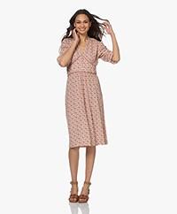 indi & cold Printed Eco Viscose Dress - Terracota