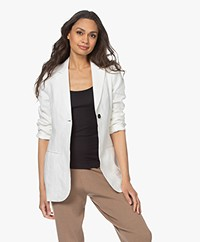 Woman by Earn Maan Linen Blazer - Off-white