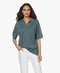 extreme cashmere N°176 Tennis Cashmere Polo - River