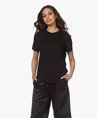 Bassike Classic Slim-fit Bio Katoenen T-shirt - Zwart