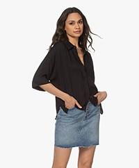 Drykorn Therry Viscose Shirt - Black