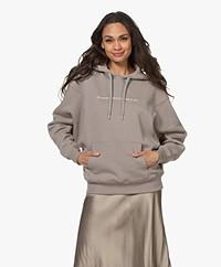 Les Coyotes de Paris Aiden Logo Hooded Sweater - Steel
