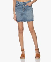 IRO Fouza Cotton Denim Skirt - Authentic Blue Denim