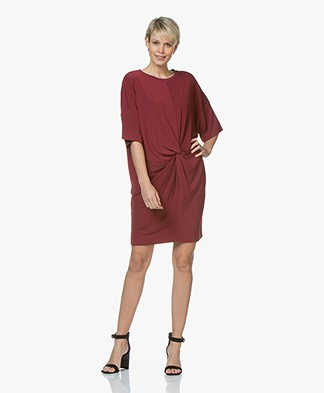 By Malene Birger Aliya Crepe Jersey Dress - Cabernet