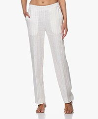 Josephine & Co Benjamin Linen Pinstripe Pants - Off-white