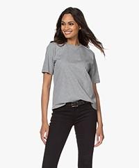 Filippa K Annie Bio Katoenen T-shirt - Grijs Mêlee