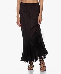 Mes Demoiselles Casta Cotton Ruffle Skirt - Black