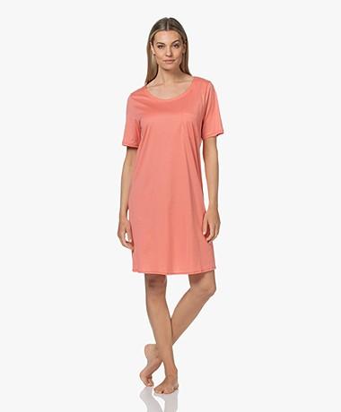HANRO Cotton Deluxe Jersey Nightshirt - Carnation