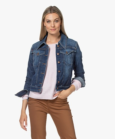 Drykorn Somerton Cotton Blend Denim Jacket - Blue