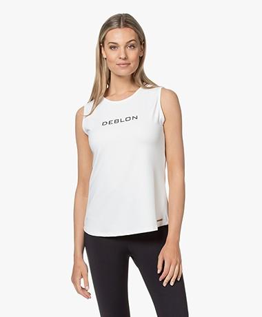Deblon Sports Jackie Mouwloze Logo Sport Top - Off-white