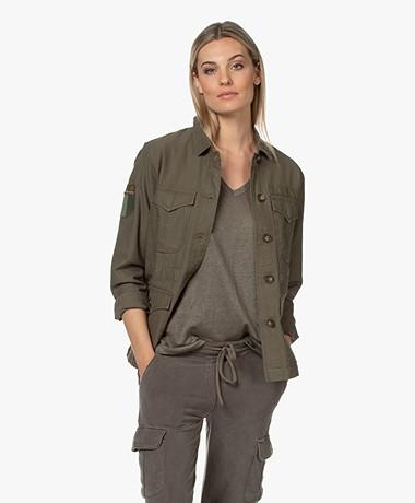 MKT Studio Vitily Utility Organic Cotton Jacket - Khaki