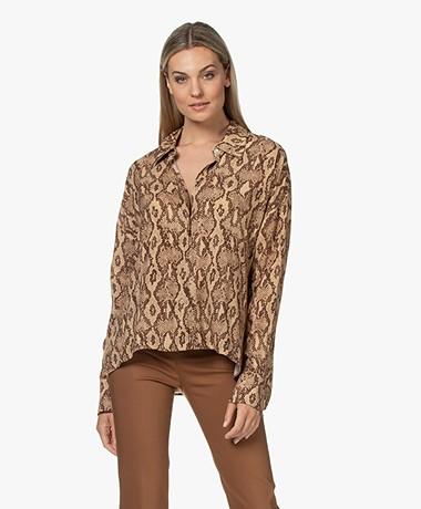 Drykorn Cloelia Snake Printed Shirt - Tapioca