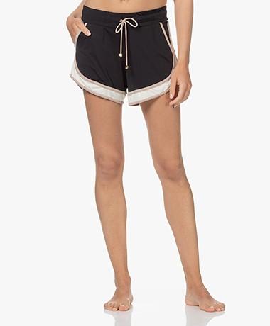 Deblon Sports Tech Jersey Kate Sport Short - Zwart/Zand/Off-white