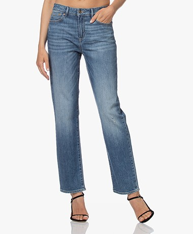 Denham Bardot Straight Fit Jeans - Blue