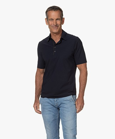 OneFold Travel Jersey Polo Shirt for Men - Dark Blue