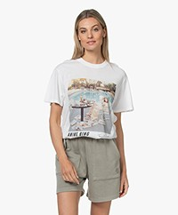 ANINE BING Lili AB X TO Faye Dunaway T-shirt - White