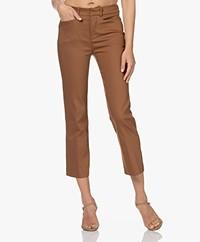 Drykorn Basket Stretchy Cotton Blend Pants - Brown