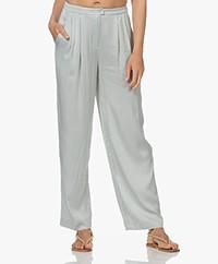 American Vintage Karow Jacquard Viscose Pantalon - Grisaille