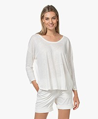Closed Linen Jersey Long Sleeve - Ivory