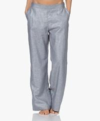 HANRO Urban Casuals Linen Blend Pull-on Pants - Lava Rock