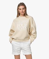 Closed Katoenen French Terry Print Sweater - Almond Cream