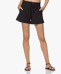 JapanTKY Koli Travel Jersey Burn-out Shorts - Deep Black