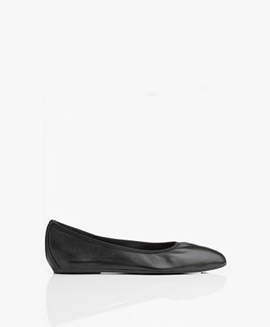 Filippa K Rey Flat Ballerina's - Zwart