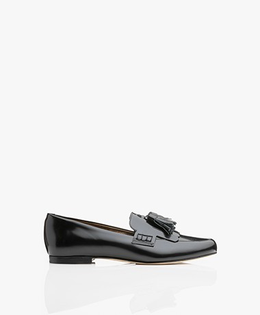 Filippa K Leather Leslie Loafers - Black Polido