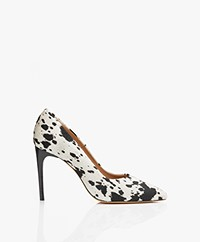 IRO Milos Leren Pumps met Print - Off-white
