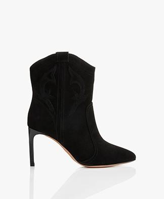 ba&sh Caitlin Suede Ankle Boots - Black