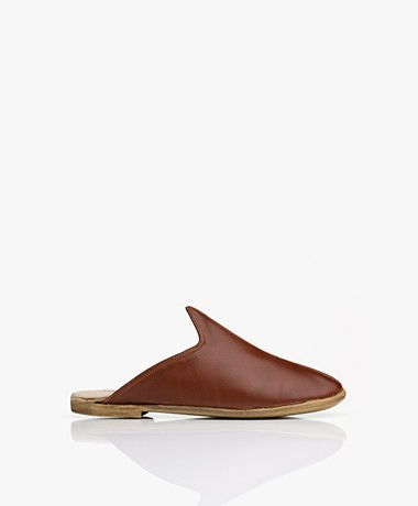 SURÉE Leather Mules - Copper