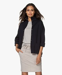 Sibin/Linnebjerg Spring Milano Button-through Cardigan - Navy
