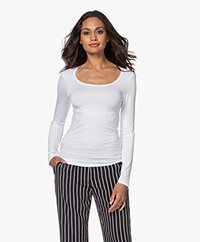 no man's land Basic Viscose Long Sleeve - White