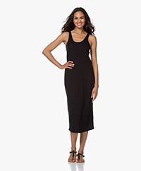 Skin Narissa Modal Blend Rib Jersey Tank Dress - Black