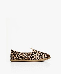 SURÉE Hairy Leather Print Loafers - Leo