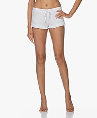 Skin Raffaela Ribbed Jersey Shorts - White