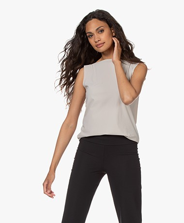 Woman By Earn Dewi Tech Jersey Boothals Top - Zand