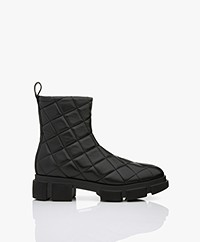 Copenhagen Studios Quilted Nappa Leather Ankle Boots - Black