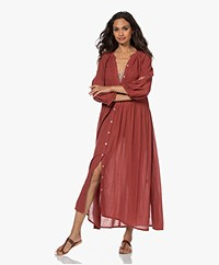 by-bar Loulou Smocked Maxi Dress - Sienna Red