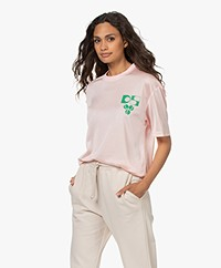 Dolly Sports Team Dolly Perforated Printed Mesh T-shirt - Light Pink