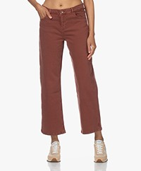 by-bar Mojo Rechte Cropped Jeans - Sienna Red