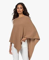 Sibin/Linnebjerg Edie Fine Knit Poncho - Camel